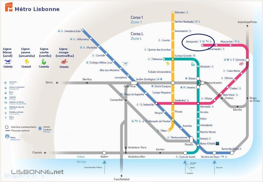 métro aéroport lisbonne