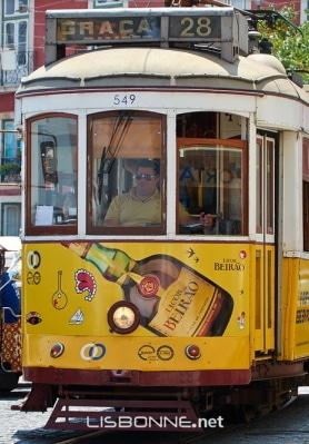 trajet tramway 28 lisbonne