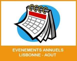 evenements annuels lisbonne aout