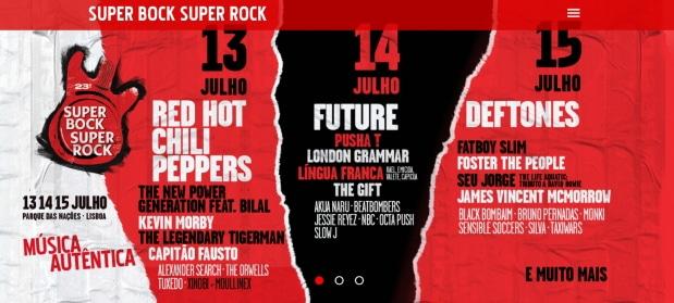festival rock lisbonne juillet 2017