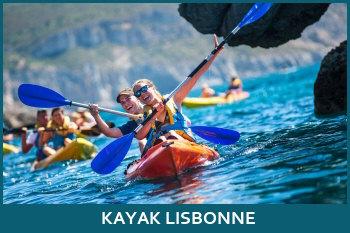 faire du kayak à lisbonne