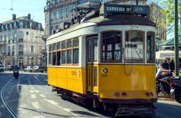 le tramway 24 à lisbonne en 2018