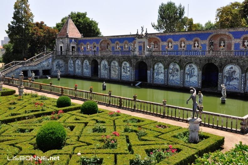 jardins palais de la frontière à lisbonne