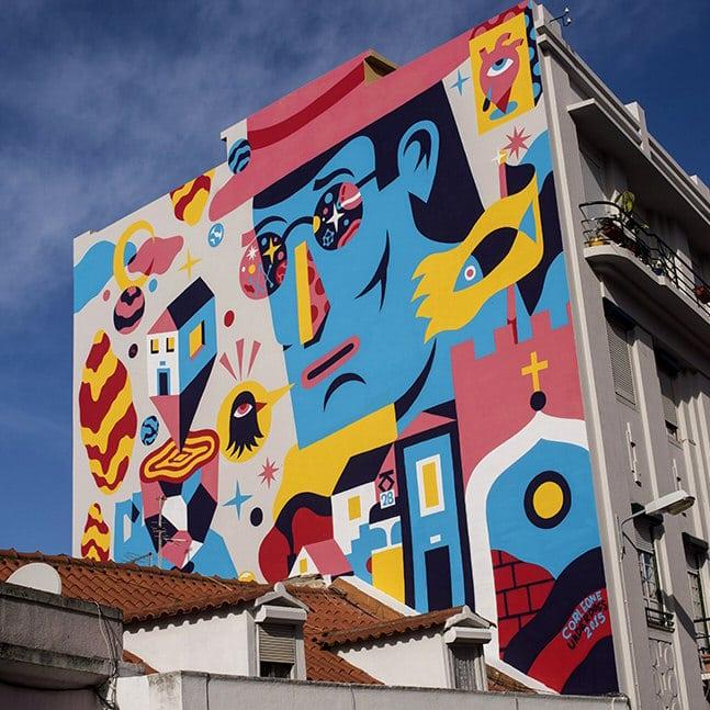 art urbain dans les rues de lisbonne