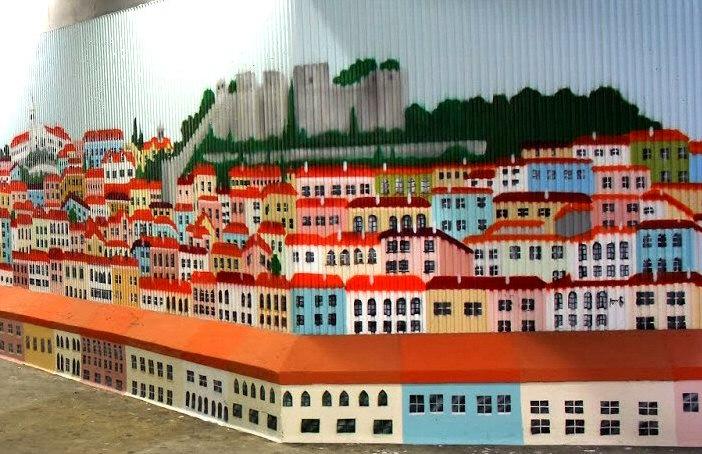 art urbain souterrain à lisbonne