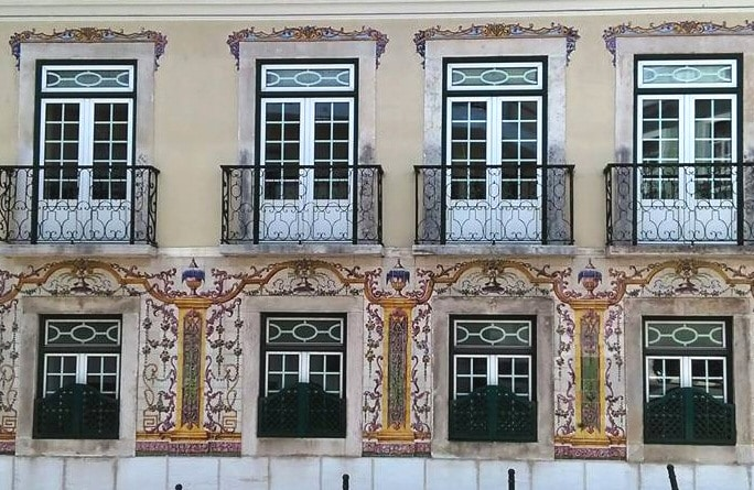façades décorées d'azulejos