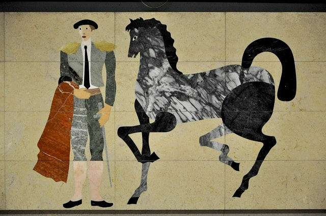 artiste panneau azulejos