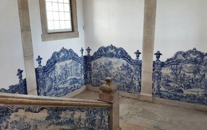 azulejos couleur bleu et blanc